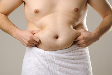 Belly fat in men is a turn-off to chicks.
