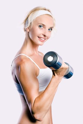 women lifting weights can get healthy, trim, and beautiful