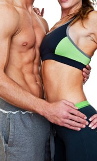 get tight abs with an optimal diet and strength building workouts