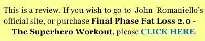 click here to purchase the superhero workout